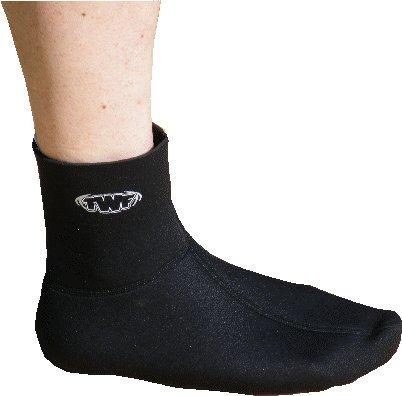 SOLA pinne calzini. 3mm Muta In Neoprene sock per guardia del corpo o snorkeling Pinne / pinne Intero Gamma Di Taglie - 2mm TWF Nero, Medium