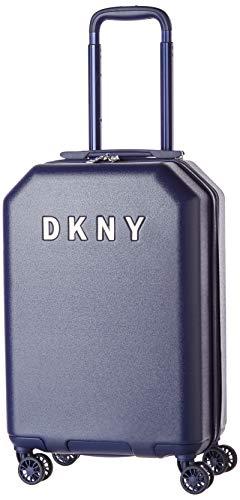 DKNY Metal Logo Hardside Spinner Luggage with TSA Lock, Indigo, Carry-on 21-Inch