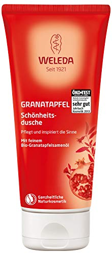 WELEDA Granatapfel Schönheitsdusche, pflegende Naturkosmetik Waschlotion zur Pflege von Körper, Gesicht und Haut, belebende Duschcreme mit angenehmem Duft (1 x 200 ml)
