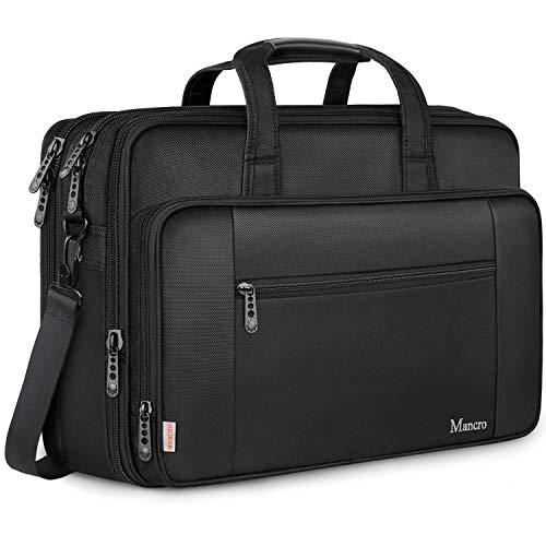 Laptoptas, zakelijke aktetas grote schoudertas, zwart 17 Zoll