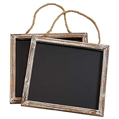 """Barnyard Designs Rustic Distressed Wood Framed Wall Hanging Magnetic Chalkboard Sign - Decorative Display Board for Restaurant, Kitchen, Pantry, Weddings and More 11"""" x 10"""" (2 Pack)"""