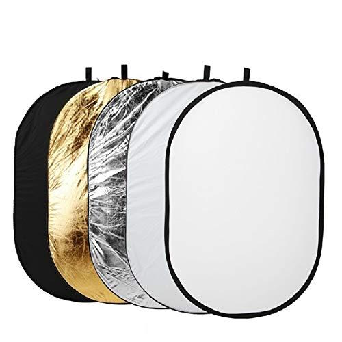 CROSYO 1sEst 60x90cm 5 en 1 Multi Disc Photography Studio Photo Oval Plackible Light Reflector Handhold Portable Photo Disc Reflector