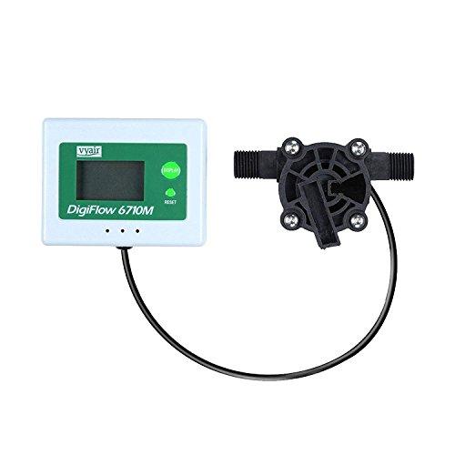 VYAIR DigiFlow 6710M Compteur de débit numérique Micro Débitmètre (Compter) 0,8 à 8 litres/minute avec connexions mâles BSP 0,6 cm