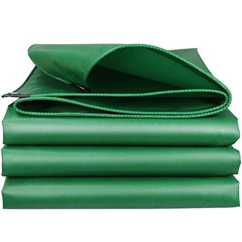 YXJBD Premium dekzeil, dekzeil, vloerbedekking, waterdichte zonwering, eenvoudig te camperen, vouwzeil 6.6x13.2ft/2x4m groen
