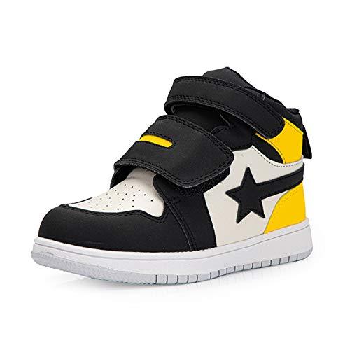 BQT Zapatos ortopédicos para niños de Tobillo Alto niños Zapatos Deportivos con Arco de Apoyo XO-En Forma de piernas pies Planos Hallux Valgus Zapatillas correctivas para niños,Amarillo,24