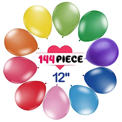 """200 Count/Pack Balloons 10"""" Multicolor Thicken Latex Balloons For Birthday /Party/Christmas/Weddings And Holidays"""