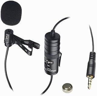 میکروفون Vidpro XM-L برای دوربین فیلمبرداری Canon Vixia HF R800 میکروفون خارجی سیمی Lavalier - کابل صوتی 20 '