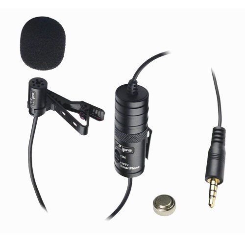 Electret Condenser 20 Audio Cable Nikon D810A Digital Camera External Microphone Vidpro XM-L Wired Lavalier Microphone Transducer Type