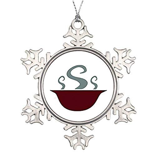 qidushop Adornos navideños decorativos de Navidad, cuenco de sopa caliente al vapor,...