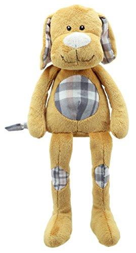 Lashuma Plüschtier Hund Braun, Weicher Stofftier Welpe 32 cm, Kuscheltier Hündchen mit Schlenker Beinen und Armen
