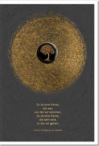 Trauerkarte ZUVERSICHT   Baum   metALUm # 1001154