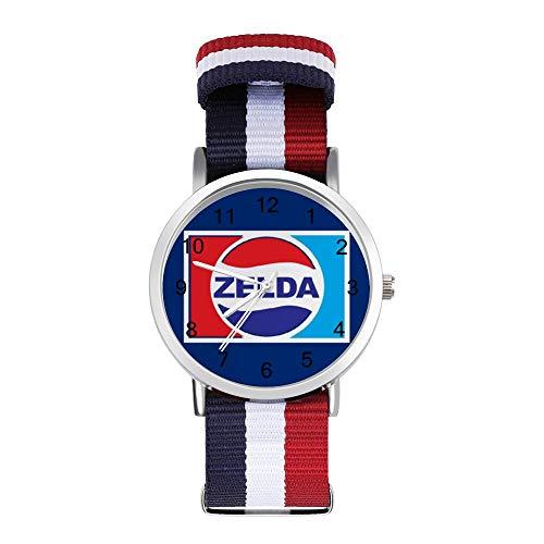 Legend of Zelda Pepsi Logo Mix Freizeit Armband Uhren Geflochtene Uhr mit Skala