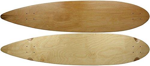 """Moose Longboard 9"""" x 43"""" Pintail Deck Natural"""