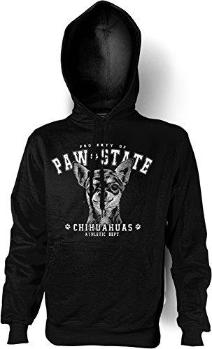 Sweat-shirt à capuche pour chien chihuahua, couleur : noir Medium Noir - Noir