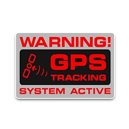 Auto Venster Sticker Muursticker Auto Sticker Waarschuwing GPS Tracking Politie Systeem Actief Opvallende Stickers PVC 12.2X7.3Cm