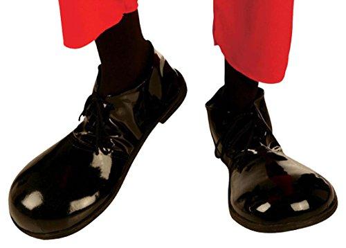 Widmann Schwarze Schuhe Clown Mickey Mouse Riesen mit Sohle aus Gummi