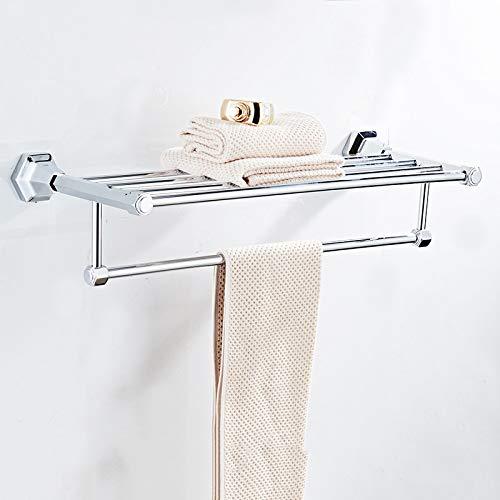 S-Senrohy Wand Montiert Schwarz Chrom Finish Handtuchhalter Halter Kleiderbügel Badetuch Kleidung Speicherregal Chrome