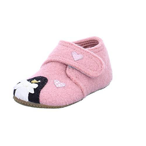 Living Kitzbühel Mädchen Babyklettschuh Eisbär & Pinguin in Love Hausschuhe, Pink (ash Rose 0336), 23 EU