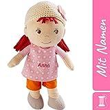 HABA Stoffpuppe Betty mit Namen Bestickt, weiche Erste Baby Puppe, 0-5 Jahre Kuschelpuppe...