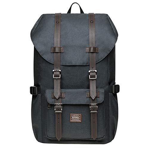 """KAUKKO Rucksack Damen Herren Studenten 17 Zoll Backpack für 14\"""" Notebook Lässiger Daypacks Schüler Bag für Wandern 47 cm, 20L"""
