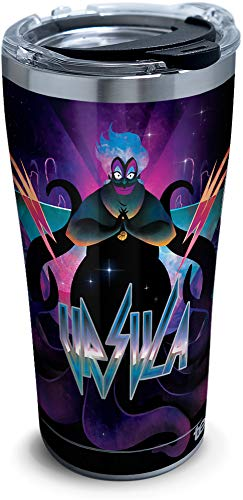 Tervis Disney Villains - Ursula Stainless Steel Insulated Tumbler with Clear and Black Hammer Lid, 20oz, Silver