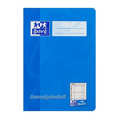 OXFORD 100057950 Hausaufgabenheft Schule 10er Pack A5 48 Blatt sortiert rot & blau