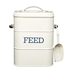 metal pet food storage container