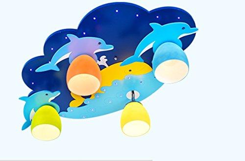 owow Chambres la manière facile enfants merveilles Bar et refroidissement Dolphin Cartoon Suspension LED modernes plafonniers pour fille ou garçon Salon Décoration Fantaisie, 70 * 45 cm