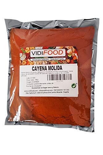 Cayena Molida - 1kg - Pimentón picante en polvo - Chile molido puro - Chile rojo seco para cocinar