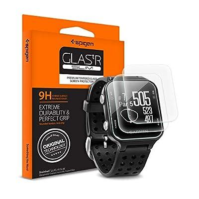 Spigen Tempered Glass Screen Protector Designed for Garmin Approach S20 Golf Watch (3Pack)