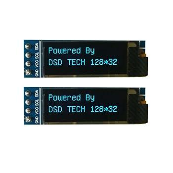 DSD TECH OLED 0.91インチディスプレイ  I2C