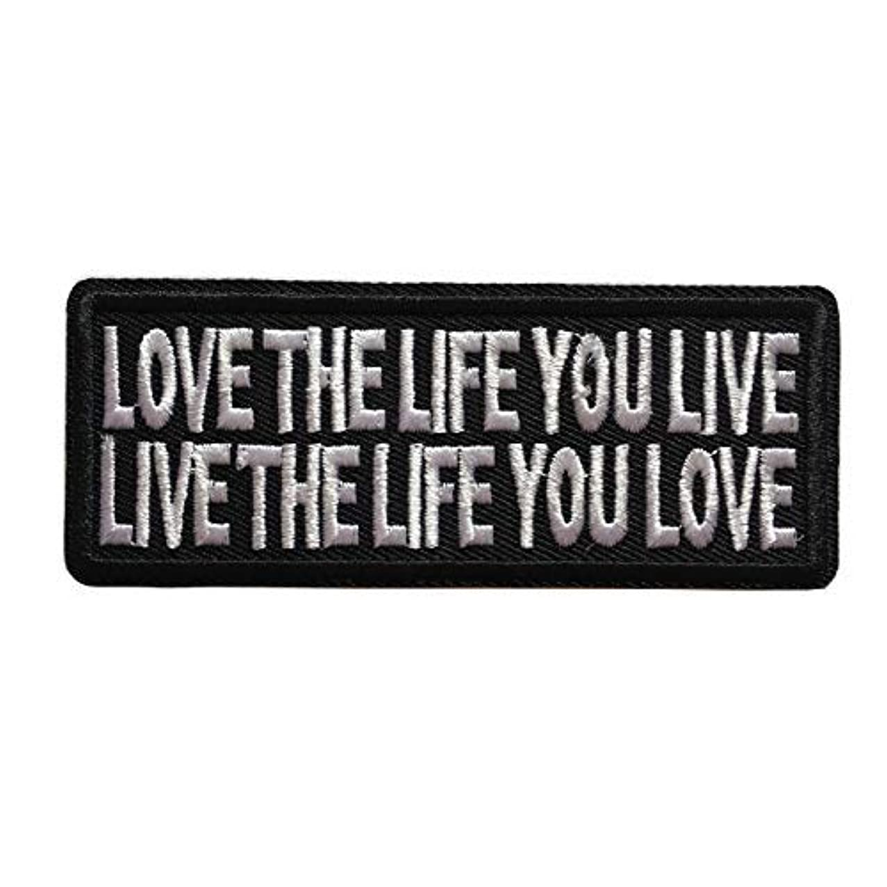 Love The Life Live You Live Biker Patch Funny Embroidered Iron On Sew On Morale Emblem