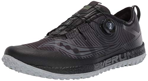 Saucony Men's Switchback ISO Trail Running Shoe, Black/Grey, 10