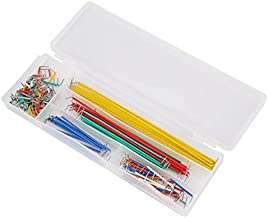 Karcy 140Pcs 22 AWG U-Shape Pre-Formed Solderless Breadboard Jumper Cable Wire Kit Box for DIY Shield