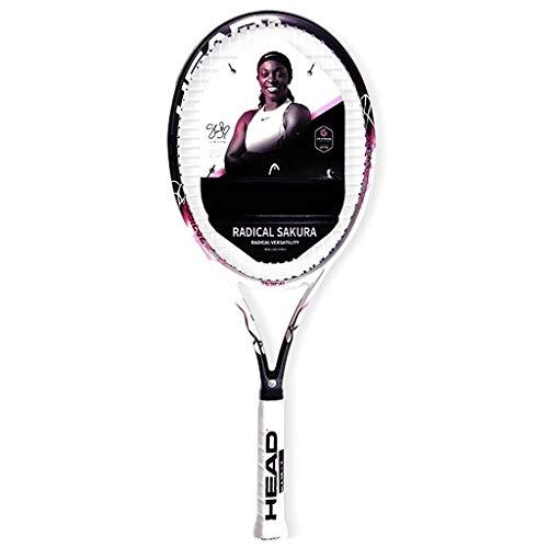 Raquetas Tenis De Carbono Tenis Profesional Tenis Especial para Damas Carbono Integrado Sensación Cómoda De La Mano (Color : Pink, Size : 27in)