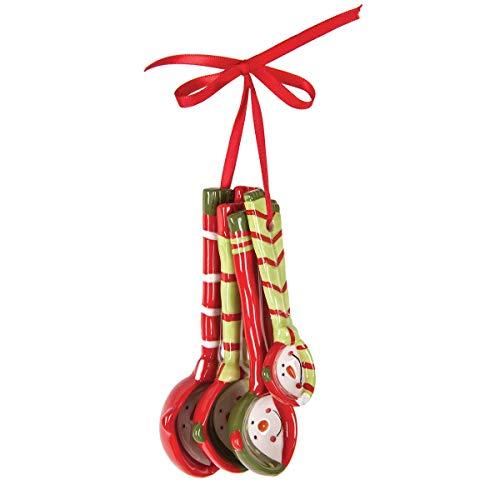 C&F Home Snowman Measuring Spoon Christmas Xmas Ornament Red