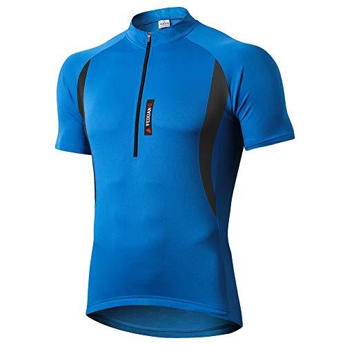 MEETWEE Herren Radtrikot Fahrradtrikot Kurzarm, Fahrradbekleidung Fahrrad Trikot T Shirt für Männer, Atmungsaktive Cycling Jersey Radsport Bekleidung