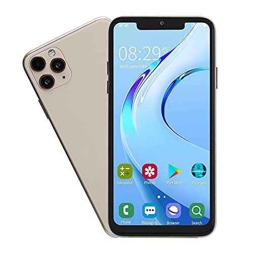 ASHATA Smartphone de 6.5 Pulgadas, teléfono móvil 1 + 16G con Pantalla Bang, cámara Frontal de 2MP y cámara Trasera de 5MP, Doble Tarjeta de Doble Modo de Espera, teléfono móvil para Android 6.0,(EU)