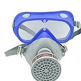 Milisten Maschera di Respiratore per Vernici Spray Antipolvere con Cartucce di Gas Industr...