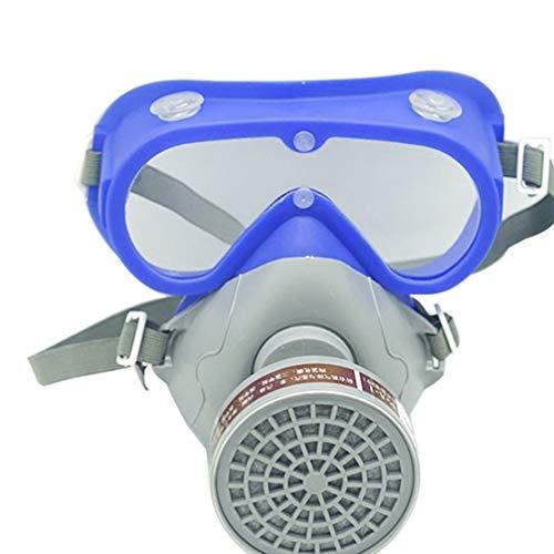 Milisten Maschera di Respiratore per Vernici Spray Antipolvere con Cartucce di Gas Industriali 1Pc con Occhiali