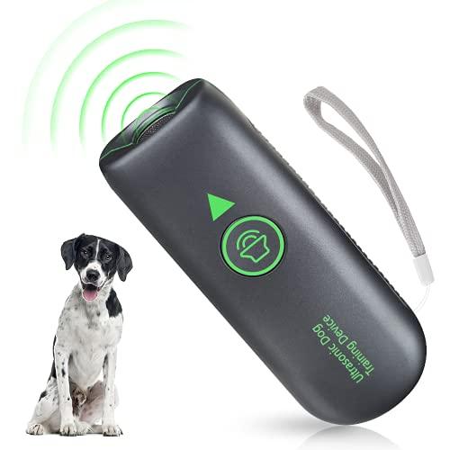 Antibell für Hunde, Ultraschall Hund Anti Bellgerät Wiederaufladbarer Bellenstopper, Wasserdichtes Hundebellen Abschreckmittel Sicheres Menschliches Antibell für Kleine Große Hunde Innen Außenbereich