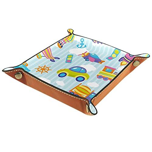 Yumansis Bandeja de dados, bandeja plegable de piel sintética para dados, juego de dados y otros juegos de mesa de juegos de mesa, diseño de coche, 20,5 x 20,5 cm