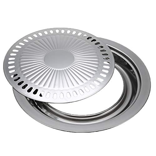 Smokeless Barbecue Grill Pan Gas Haushalt Non-Stick Gasherd Platten-Elektroherd Backblech BBQ Grill Grill Werkzeuge Outdoor (Color : As Shown)