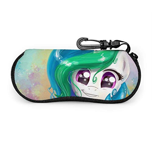 My Little Pony Glasses Case Waterproof with Carabiner Safety with Zipper Portable Sunglasses Soft Case Belt Clip