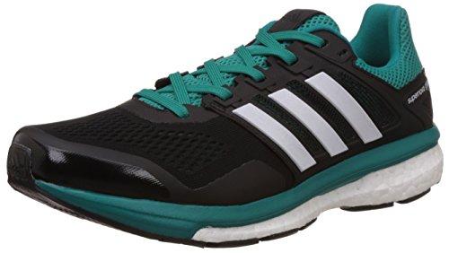 adidas Supernova Glide 8 M, Zapatillas de Running para Hombre, Negro/Blanco / Verde (Negbas/Ftwbla / Eqtver), 42 2/3 EU