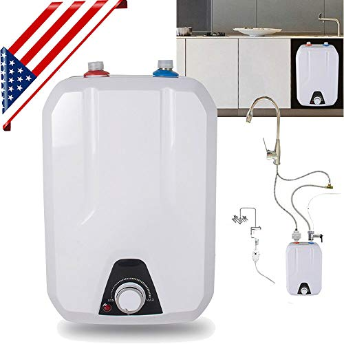 Barbella Electric Hot Water Heater for Kitchen Bathroom Household- 8L Kitchen Huge-Tank Hot Water Electrical Hot Water Tankless 1500W 110V