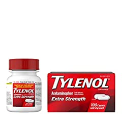 100-count of Tylenol Extra Strength Caplets with 500mg of acetaminophen to provide temporary relief of minor aches and pains and help reduce fever Each extra strength caplet contains 500 mg of acetaminophen for effective, lasting pain relief, and has...