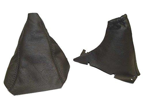 Für Volvo V702001–04Gear & Handbremsmanschette schwarz Leder