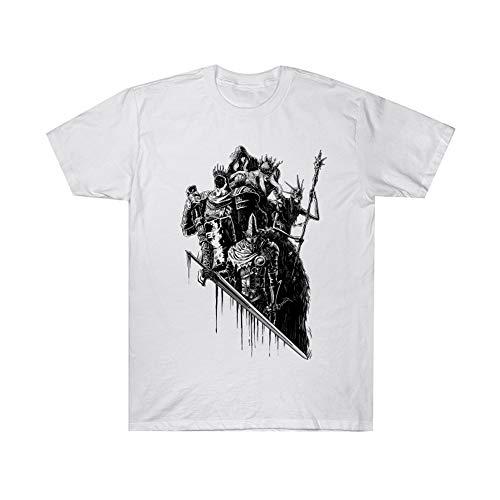 Dark Souls Camiseta Fashion Boutique algodón cómoda Manga Corta Transpirable Camiseta Deportiva (Color : A01, Size : M)