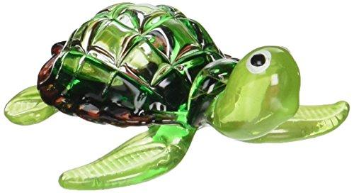 ChangThai Design Aquarium Miniature Hand Blown Art Glass Green Turtle Figurine Collection …